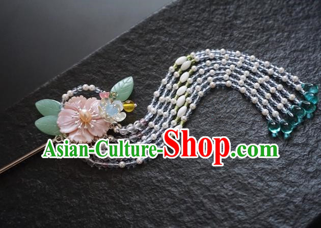 Chinese Ancient Princess Tassel Step Shake Hairpins Traditional Handmade Hanfu Hair Accessories for Women