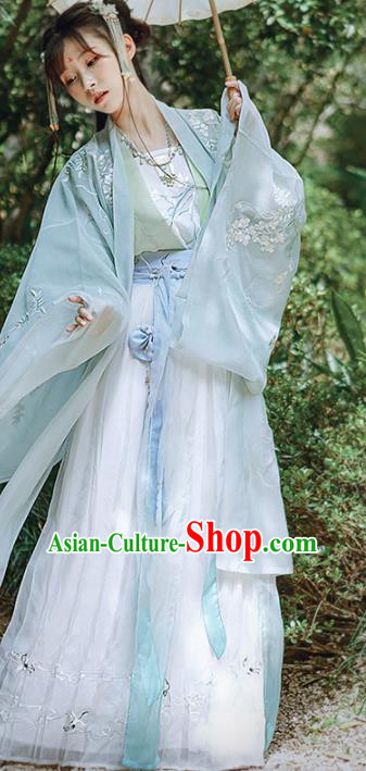 Traditional Chinese Song Dynasty Palace Hanfu Dress Ancient Nobility Lady Replica Costumes for Women