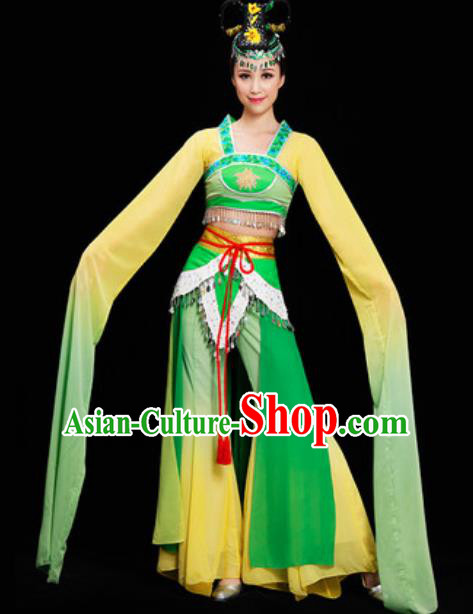 Chinese Spring Festival Gala Water Sleeve Dress Traditional Classical Dance Costume for Women