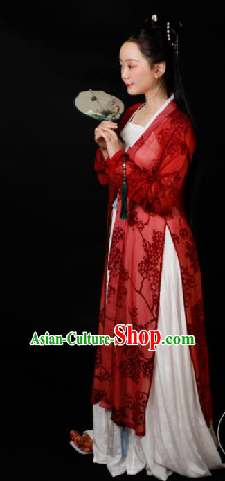 Traditional Chinese Song Dynasty Aristocratic Mistress Hanfu Dress Ancient Drama Geisha Replica Costumes for Women