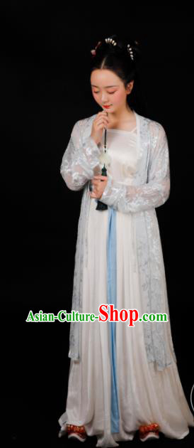 Traditional Chinese Song Dynasty Young Lady Silk Dress Ancient Drama Palace Princess Replica Costumes for Women